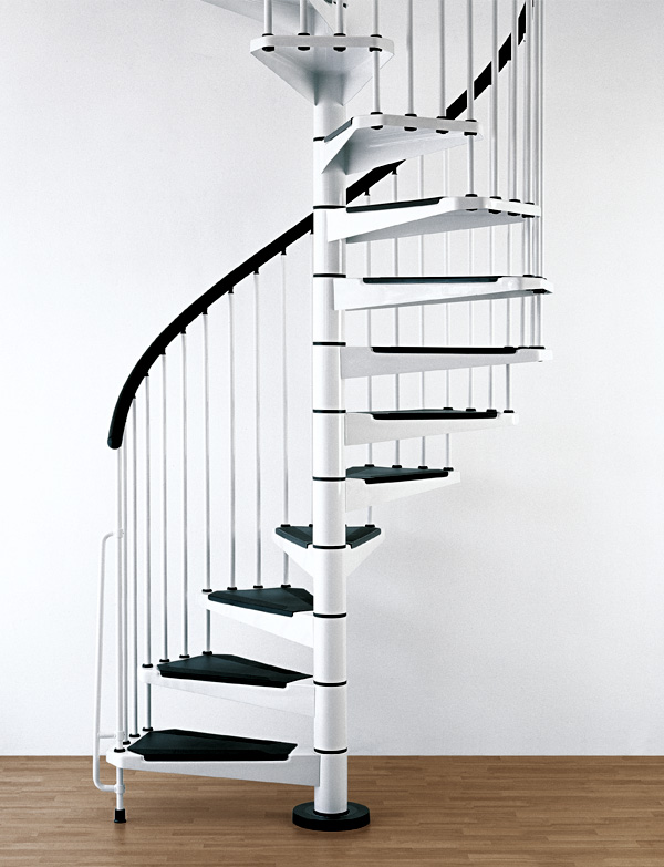 Indoor spiral stairway civik spiral staircase modular for Spiral stair