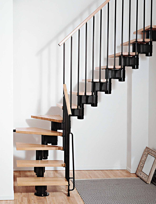Spiral stairway loft stairs photo gallery modular stairs for Prefab staircase
