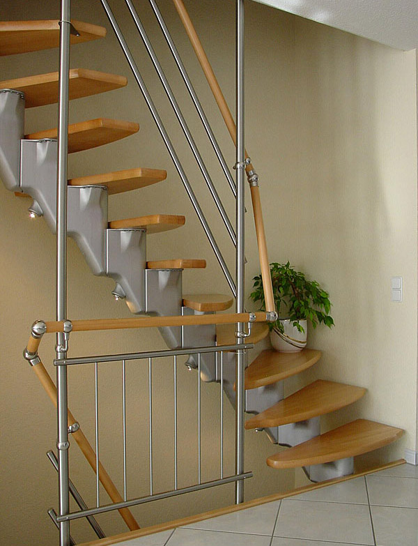 Modular Spiral Stairway Top Star A210 Side Stair