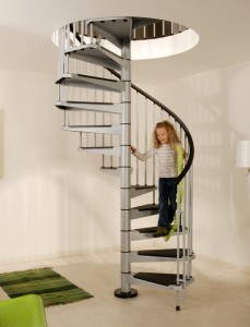 Civik Spiral Stairs Kit Grey