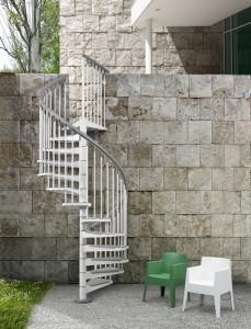 Outdoor Stairs | Eureka Steel Circular Staircase | Modular Stairs
