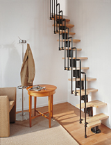 Spiral stairway diy stair kits modular stairs canada loft staircase solutioingenieria Image collections
